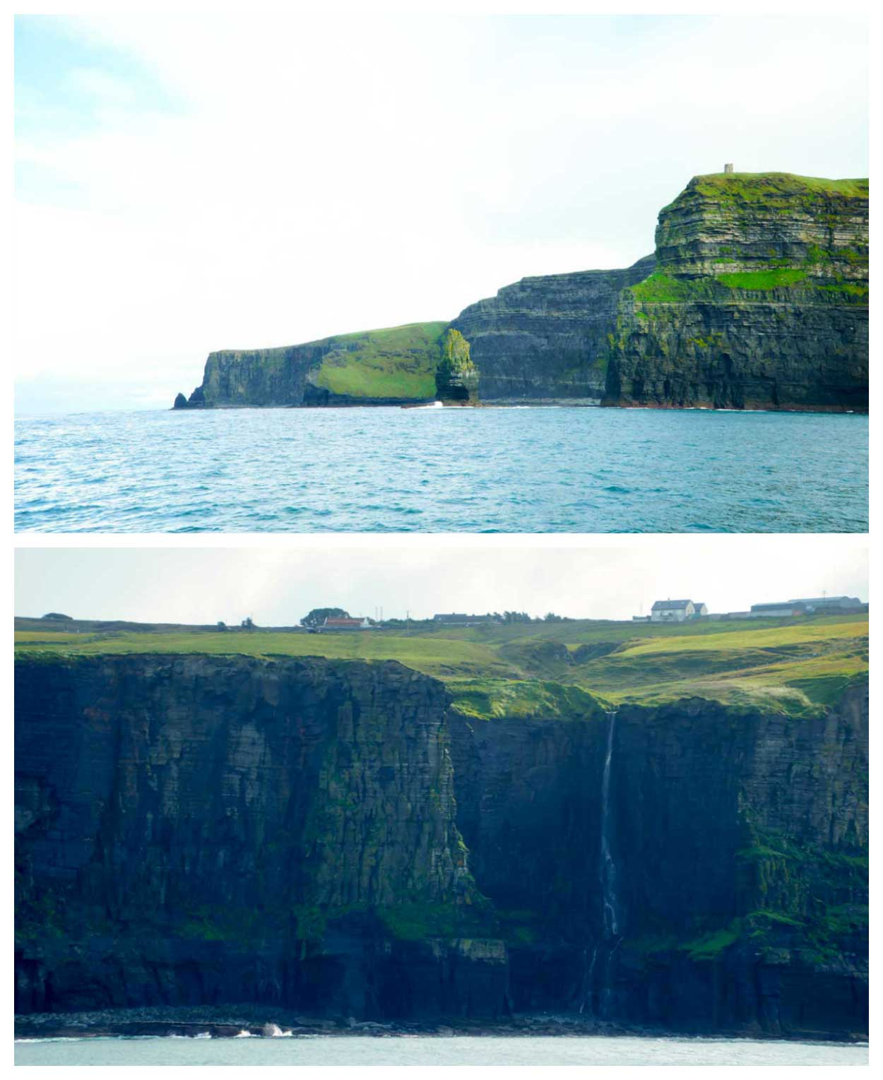 The Cliffs of Moher from the sea
