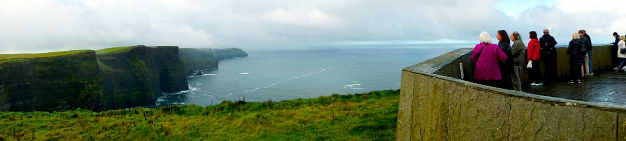 Panorama of The Cliffs of Moher