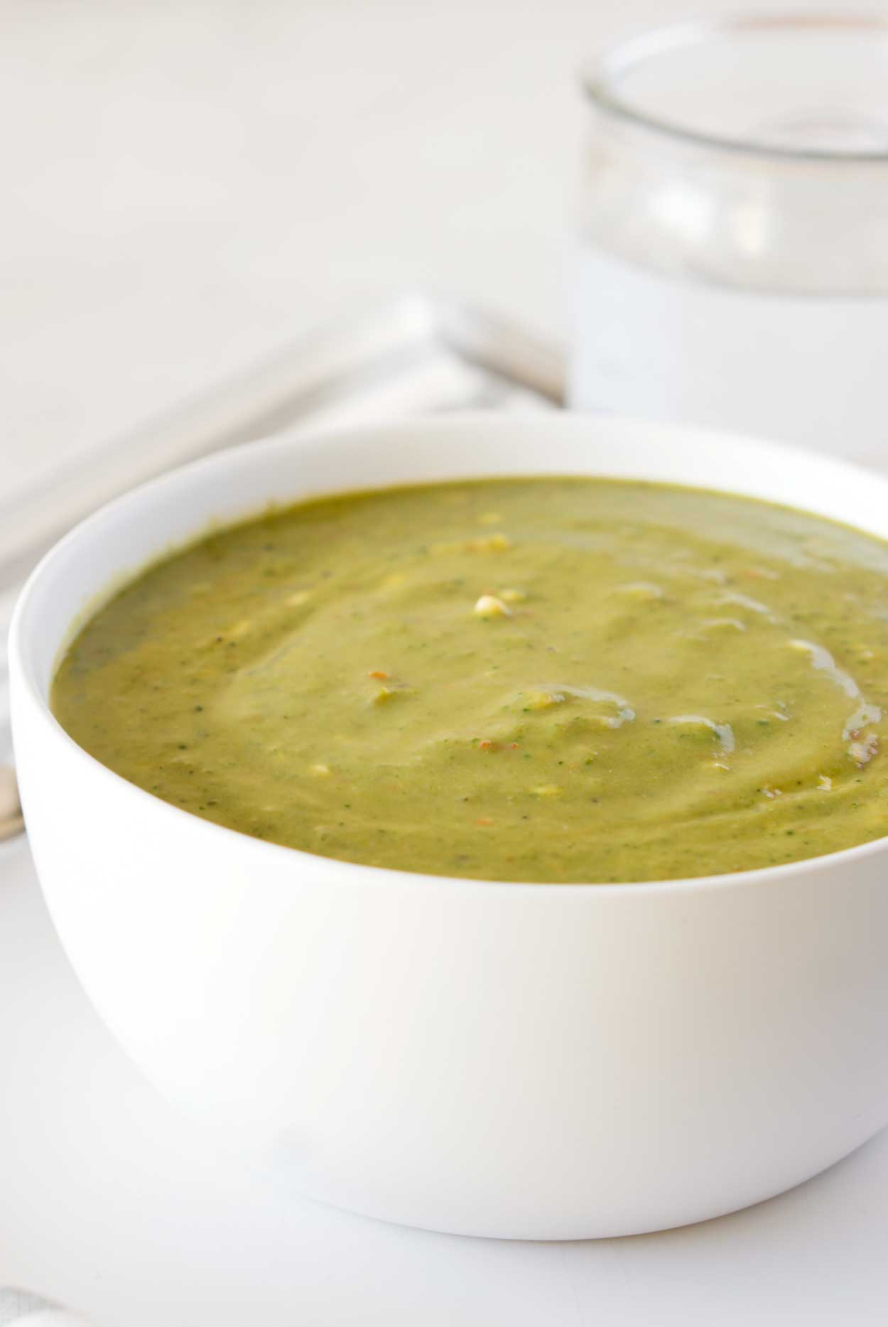 Broccoli Cheese Soup - a low carb recipe made in the slow cooker!