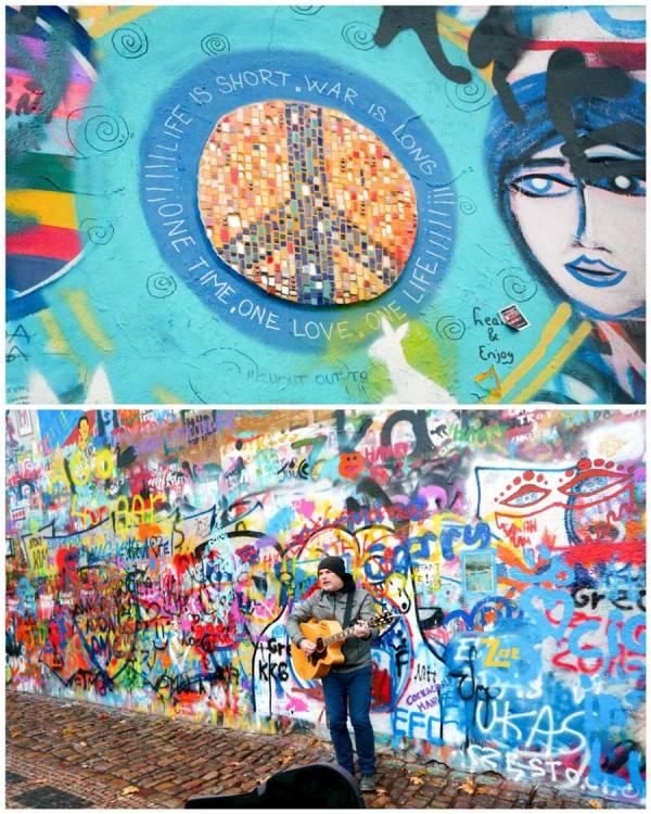 The Lennon Wall in Prague
