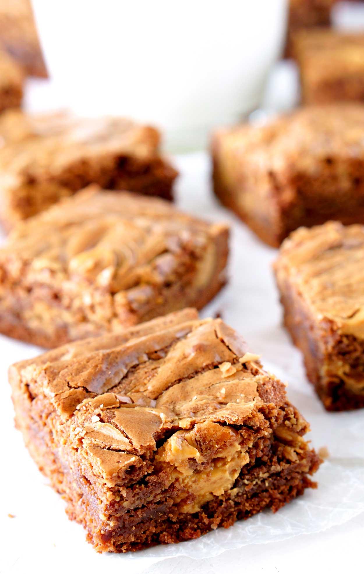 Peanut Butter Swirl Brownie Recipe • Food, Folks and Fun - photo#39