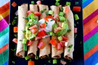 Easy Taquitos that are made in the oven.