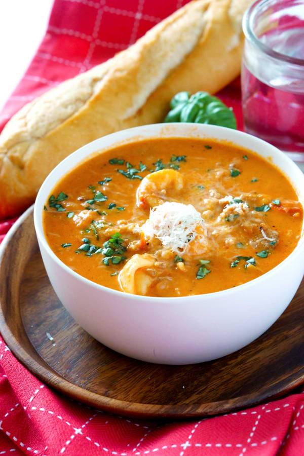 Best-ever Creamy Tomato Tortellini Soup recipe