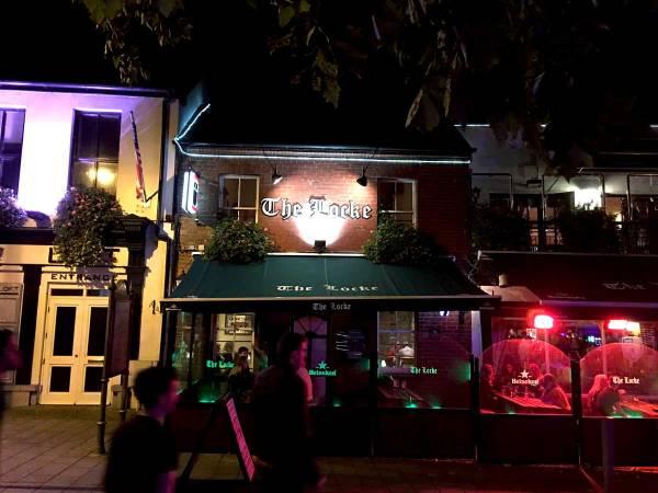 Outside the Locke Bar in Limerick, Ireland
