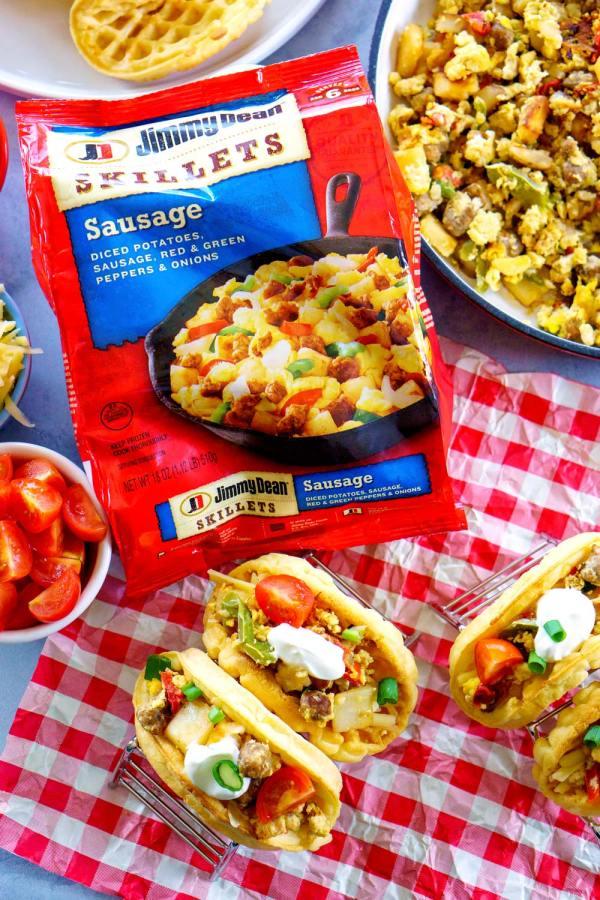 Brinner recipe alert: Waffle Tacos!