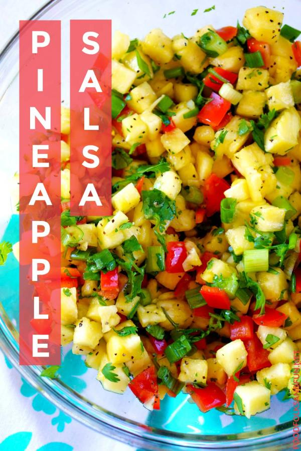Pineapple Salsa with canning instructions!