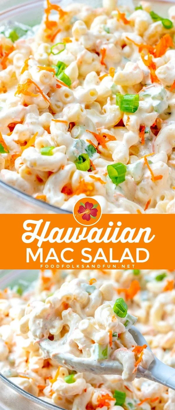 Picture collage of mac salad for Pinterest.