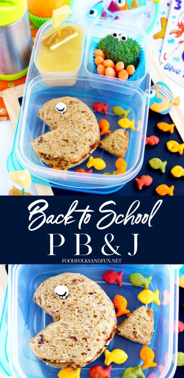 Super fun Back to School Peanut Butter and Jelly Sandwich!
