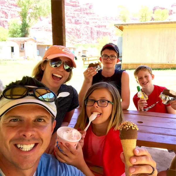 Pro Tip: Stop for Ice Cream on your hike to the Havasupai Falls campground. You'll thank yourself later, because it's a 2-mile trek uphill to go back and get some!