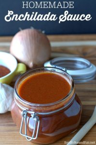 Make your own enchilada sauce at home. Not only does it taste better than store-bought, but it's quick & easy, too!