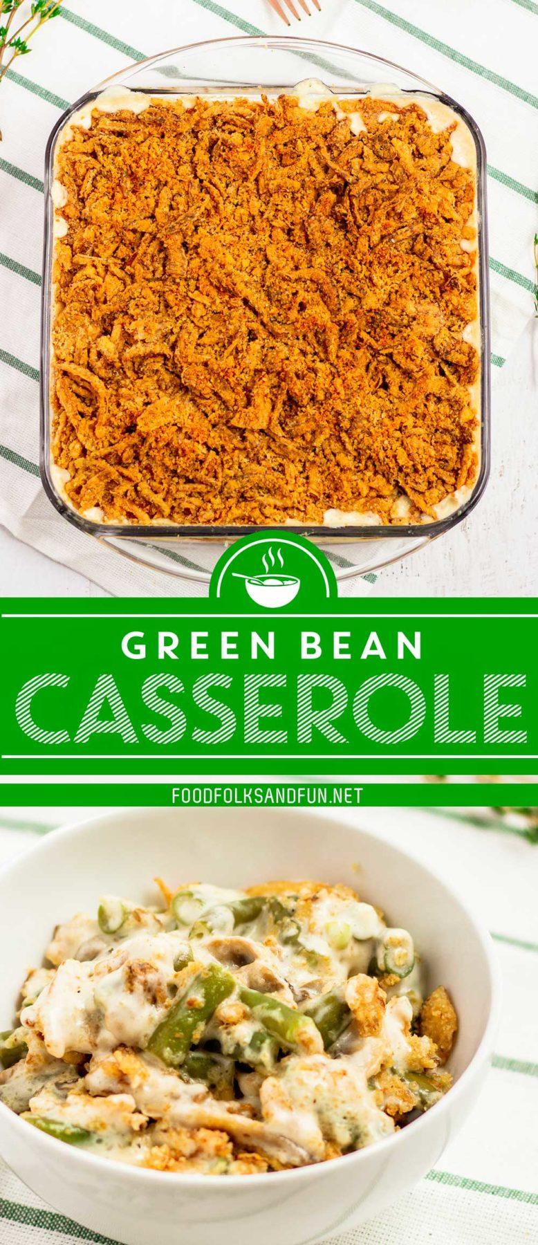 Make Ahead Green Bean Casserole recipe