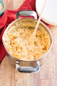 Making Baked Mac and Cheese