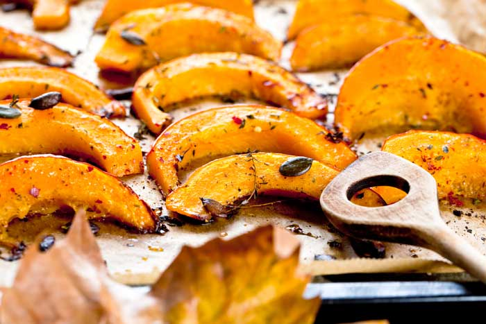Roasted Butternut Squash with Pumpkin Seeds