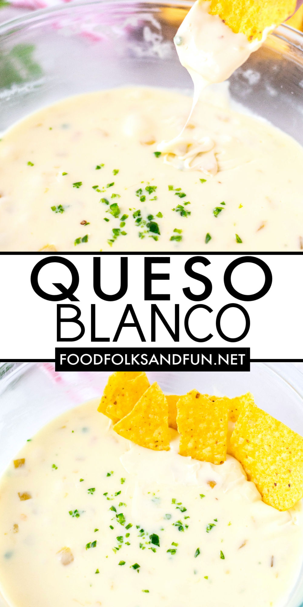 This 4-ingredient Queso Blanco Dip is so creamy, irresistible and most importantly, comes together in just minutes! Everyone always loves this Velveeta Queso Blanco. I've even caught guests licking the bowl!  via @foodfolksandfun