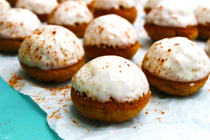 frosted carrot donut holes
