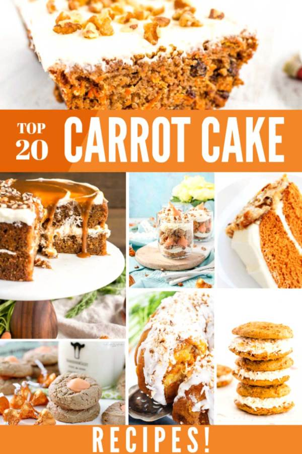 Collection of 20 of the best carrot cake recipes.