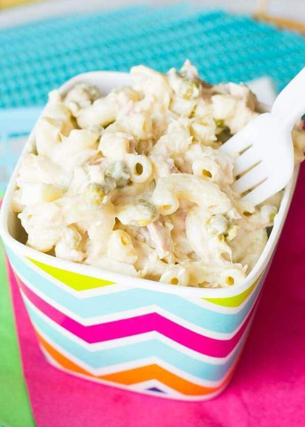 Tuna Macaroni Salad with Hard Boiled Eggs