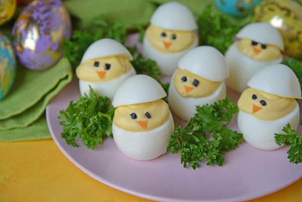 Deviled Eggs Baby Chicks for Easter