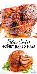 Honey Baked Ham made in the slow cooker