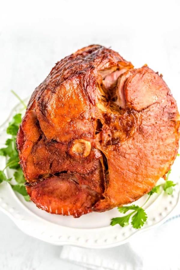 Spiral ham with honey glaze.