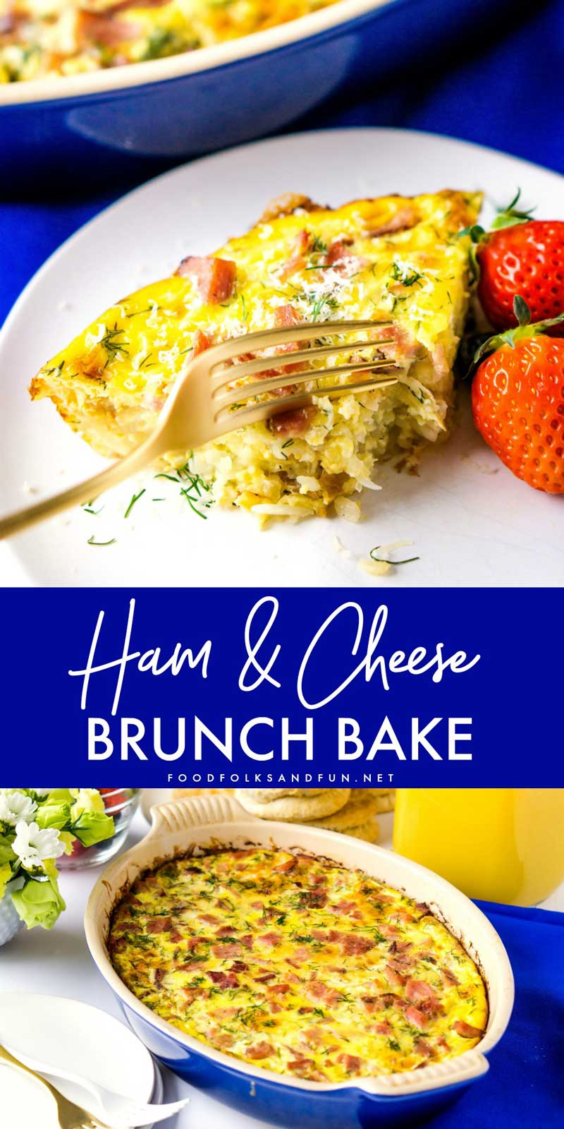This Sherry, Ham and Cheese Brunch Bake is an easy main dish for brunch. It's layered with so much flavor and you can make it ahead of time, too.