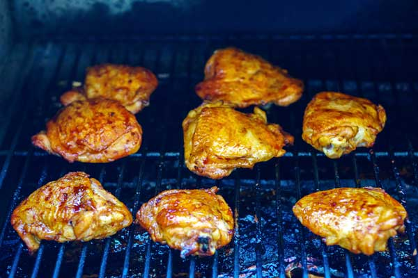 Continue to grill until the sauce is caramelized, about 5 minutes.