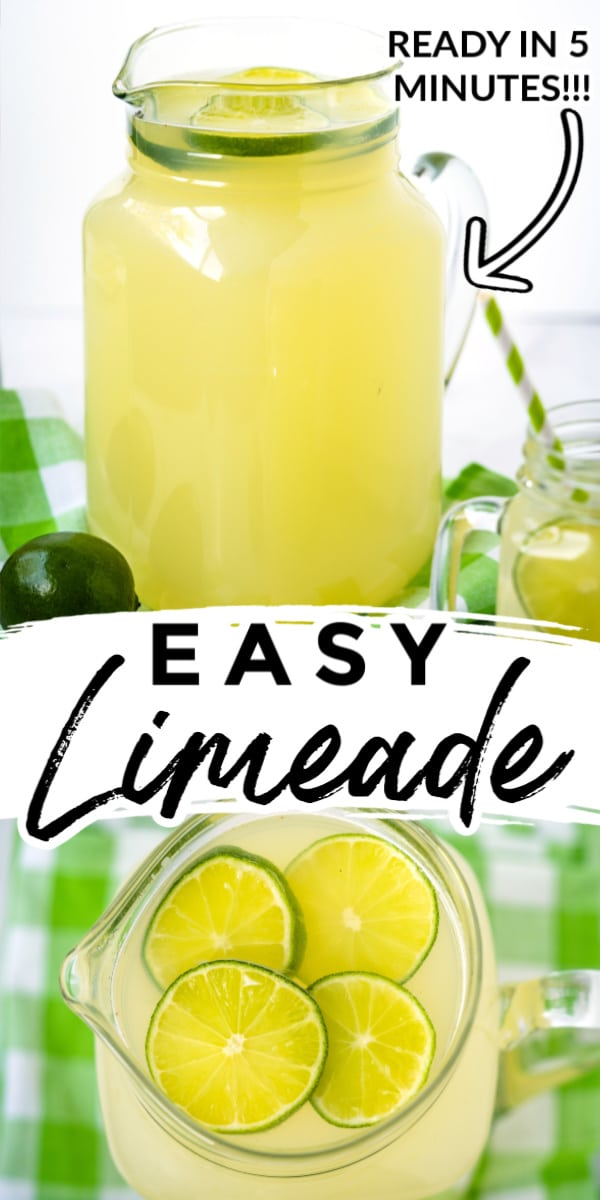 Refreshing homemade Limeade is easy to make, and the recipe calls for just three ingredients: lime juice, granulated sugar, and water. via @foodfolksandfun