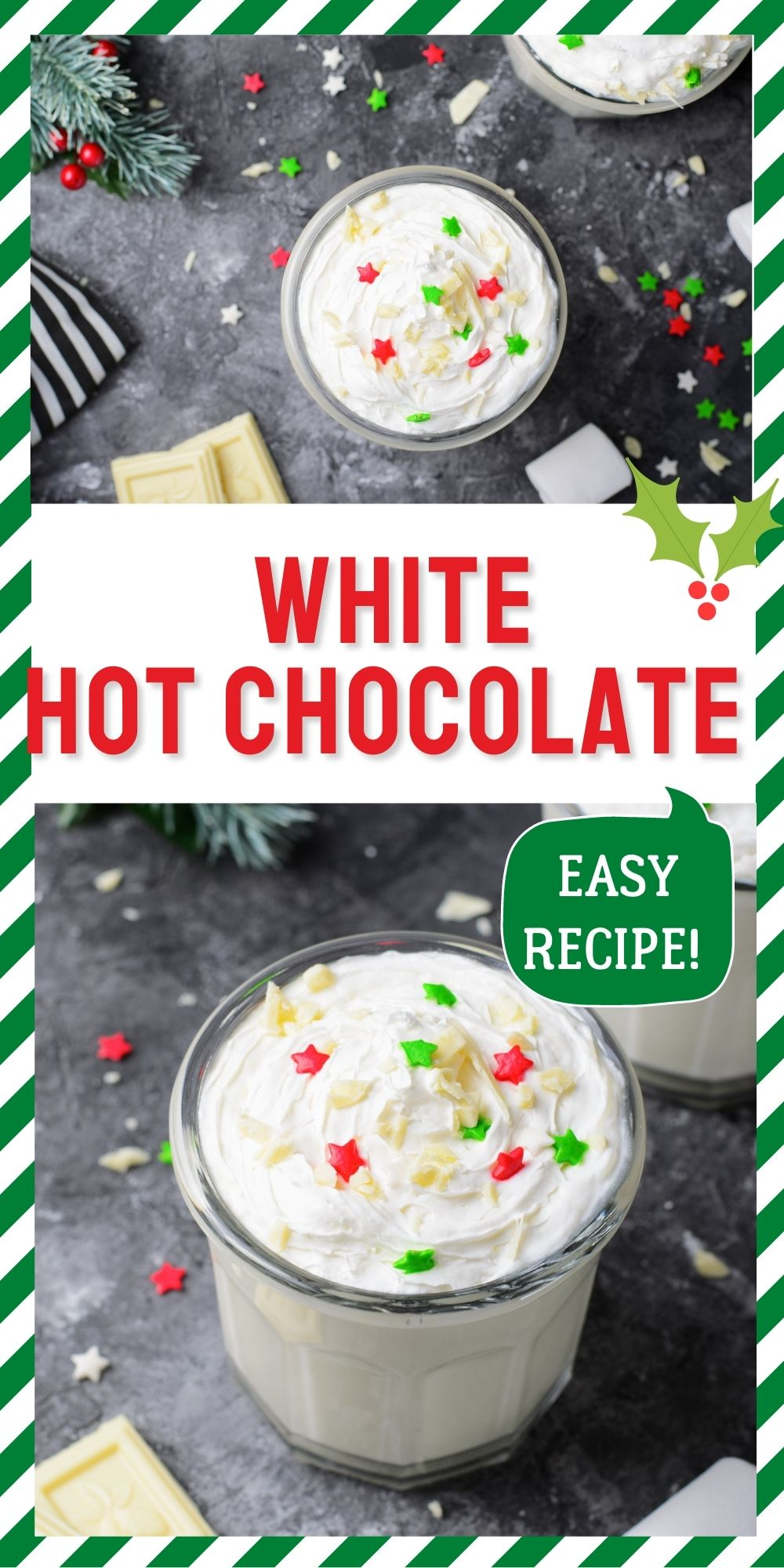 White Hot Chocolate is the creamiest and sweetest way to warm up. Made with simple ingredients in just 15 minutes, it's a delicious treat for cozy winter evenings. via @foodfolksandfun