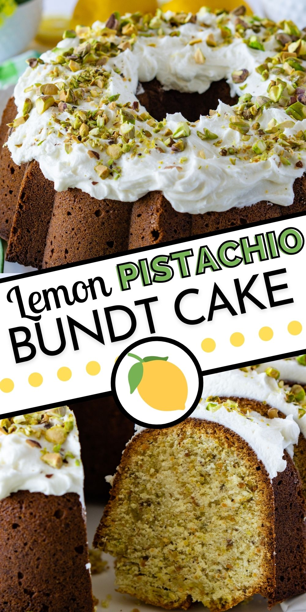 This Lemon Pistachio Bundt Cake recipe is made completely from scratch. It's dense, buttery, and packed with pistachios and zesty lemon flavor. via @foodfolksandfun
