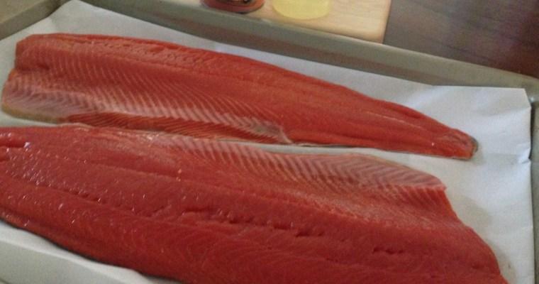 3 Ingredient Fresh Sockeye Salmon Dinner!!
