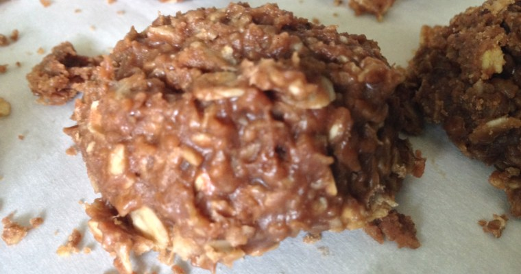 Chocolate Oat ((Cookie Butter)) No-Bake Cookies.