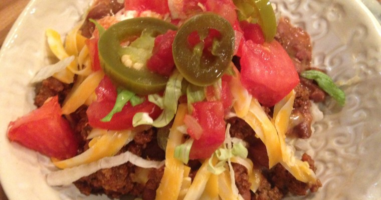 Taco Bowl Night! ((and the very best seasoning blend for taco meat))