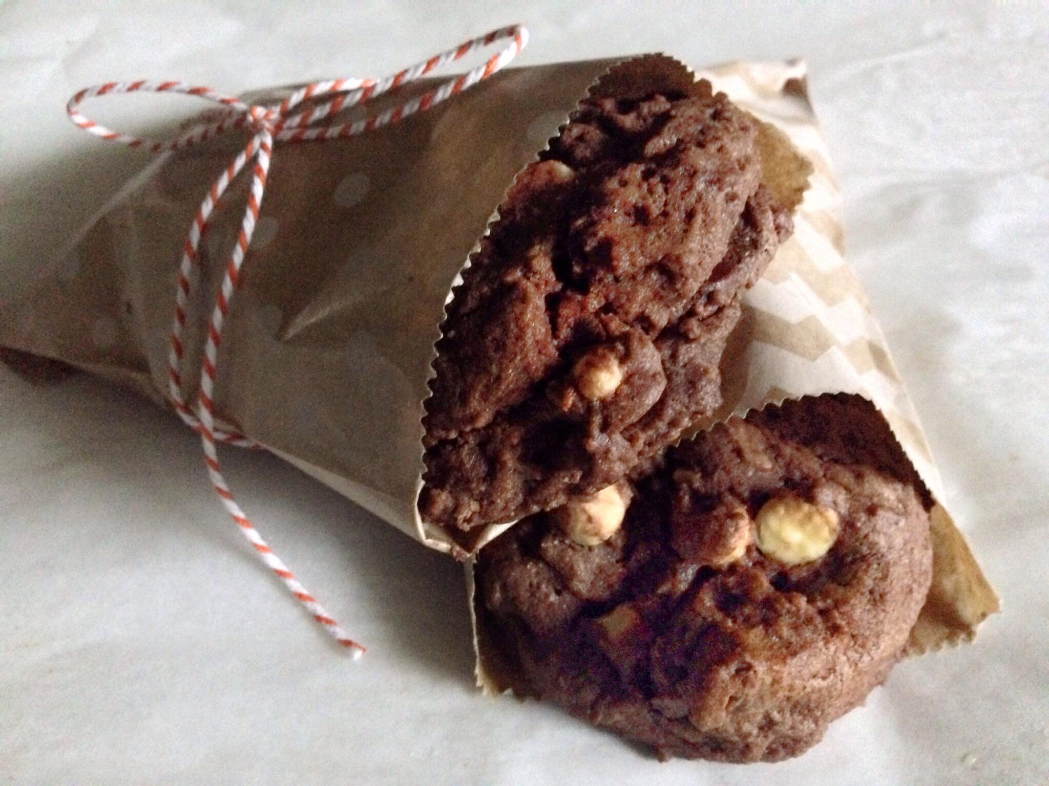 Giant Triple Chocolate Chocolate Chip Cookies