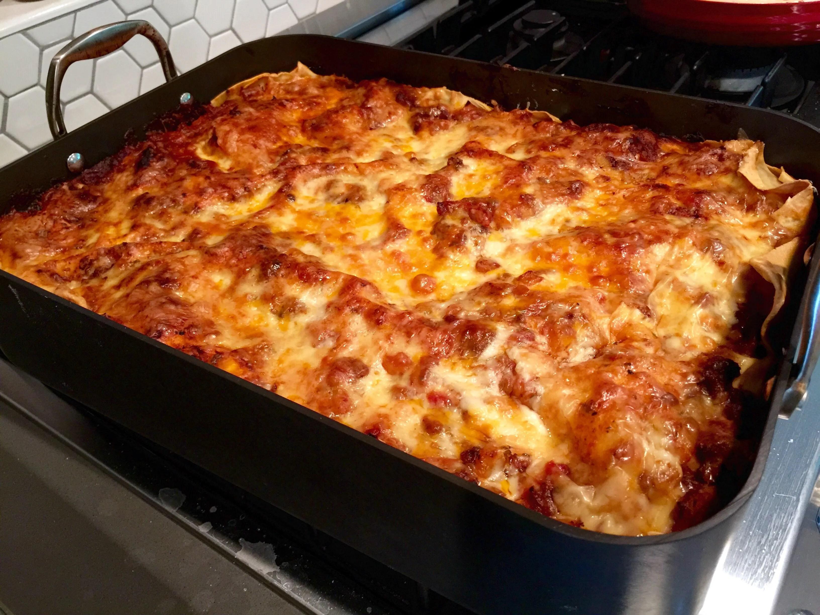 Epic Lasagna — Meat & Potatoes Meet Homemade Lasagna Noodles!!