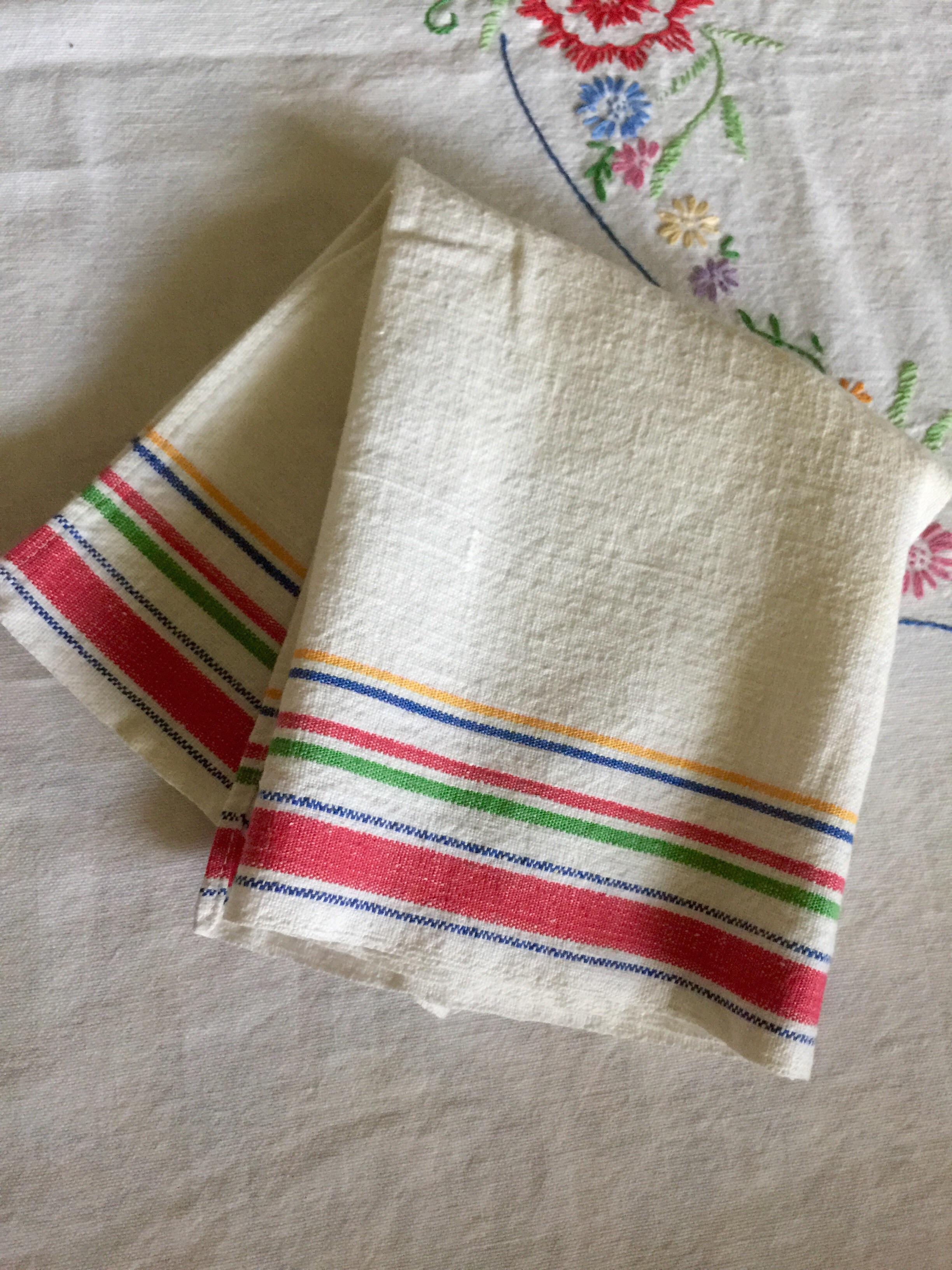 Vintage Startex Linen/Cotton Blend Kitchen, Tea Towel