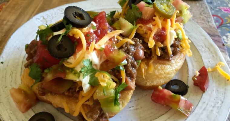 Puffy Indian Tacos with Masa Fry Bread