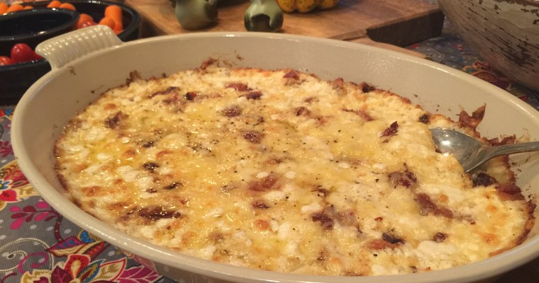 """Bacon & Swiss Hot Onion Dip (Part 2 of the """"Busy Mom Approved"""" recipe series)"""