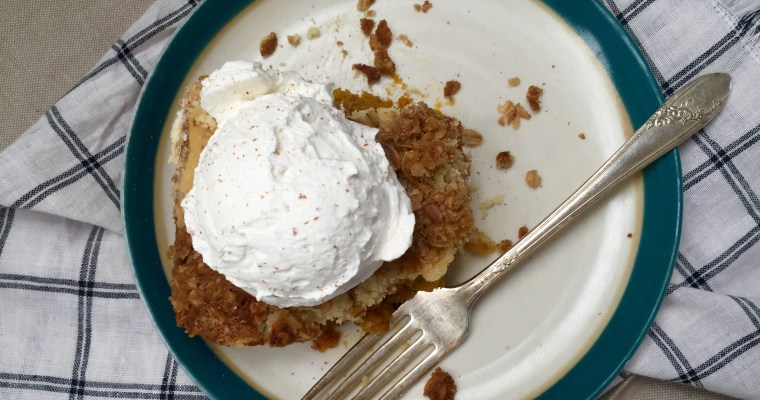 "Pumpkin Pie Crunch Cake — THE Dessert you have been looking for! (Part 1 of the ""Busy Mom Approved"" recipe series)"
