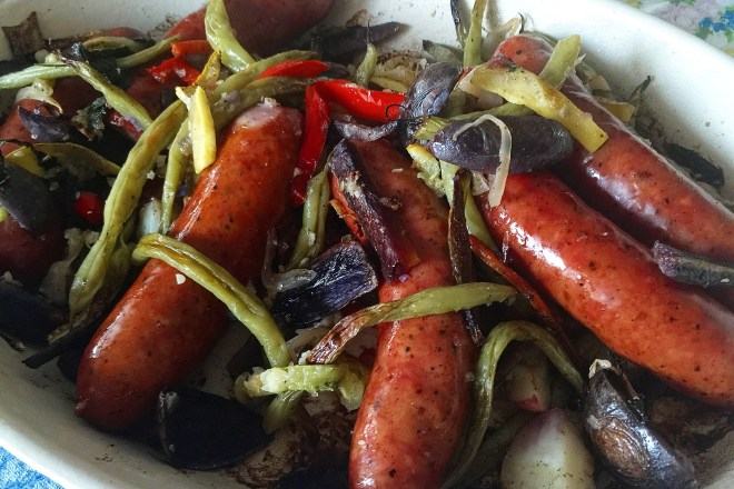 how to cook german sausage in the oven