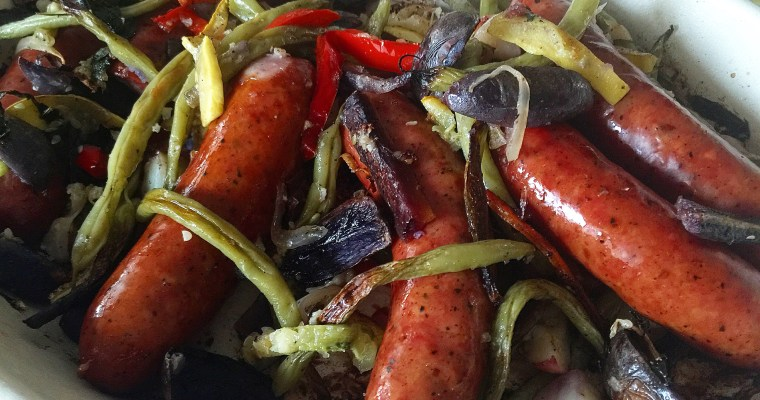 Oven Roasted German Sausage & Veggies