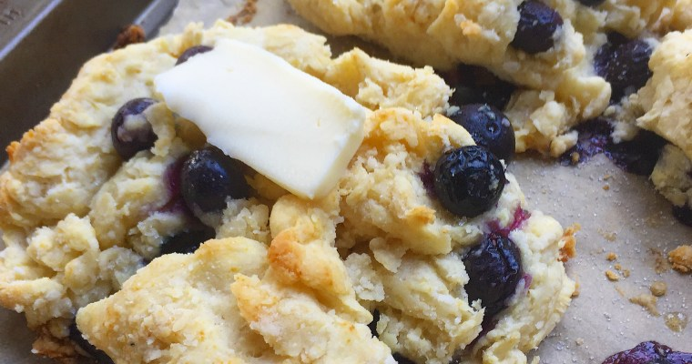 Rustic Blueberry Biscuits – a busy morning breakfast solution!