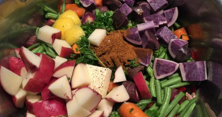Spicy Bean & Rainbow Veggie ((No-Peek)) Veggie Stew
