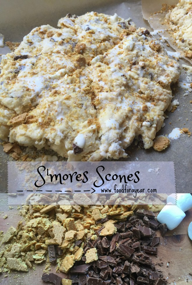 S'mores Scones • Food for a Year: