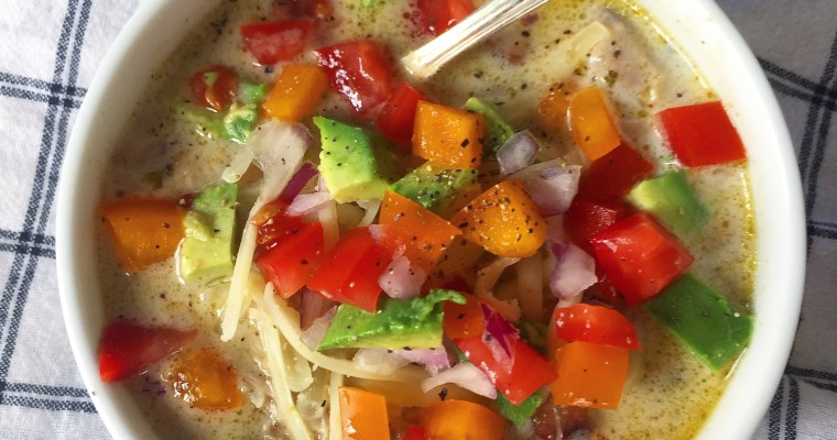 Easy White Chicken Chili ((made from scratch))