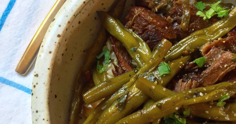 An Okie Girl's take on Green Bean Beef