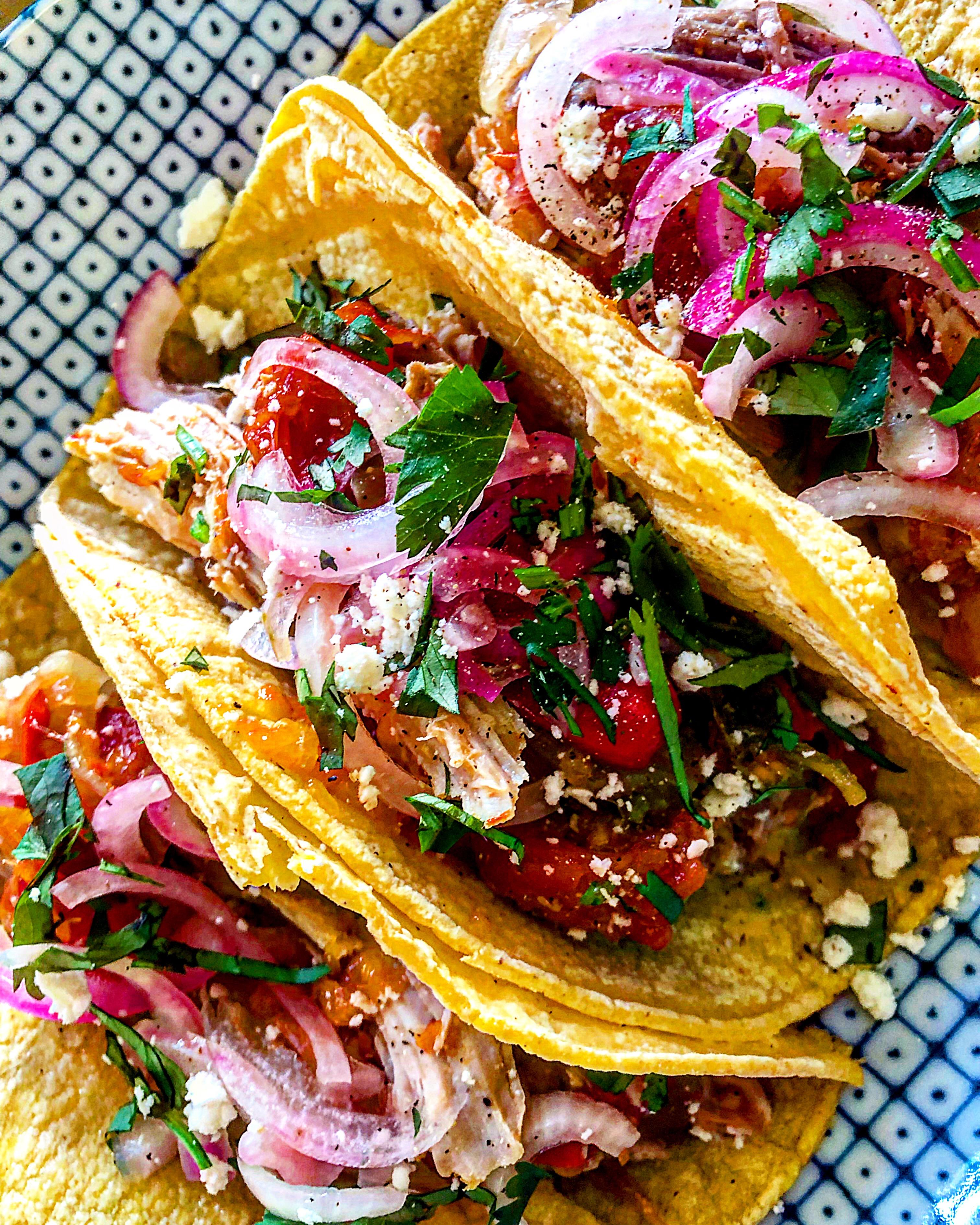 Grapefruit + Sweet Onion Park Tacos