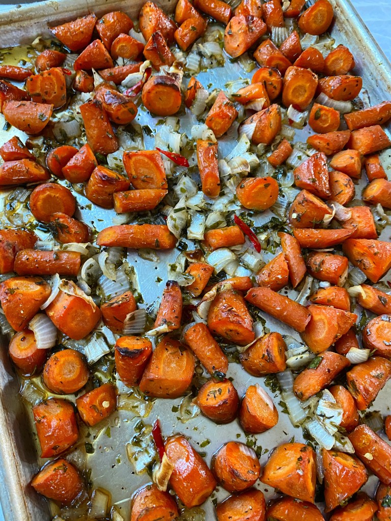 roasted sheet pan carrots