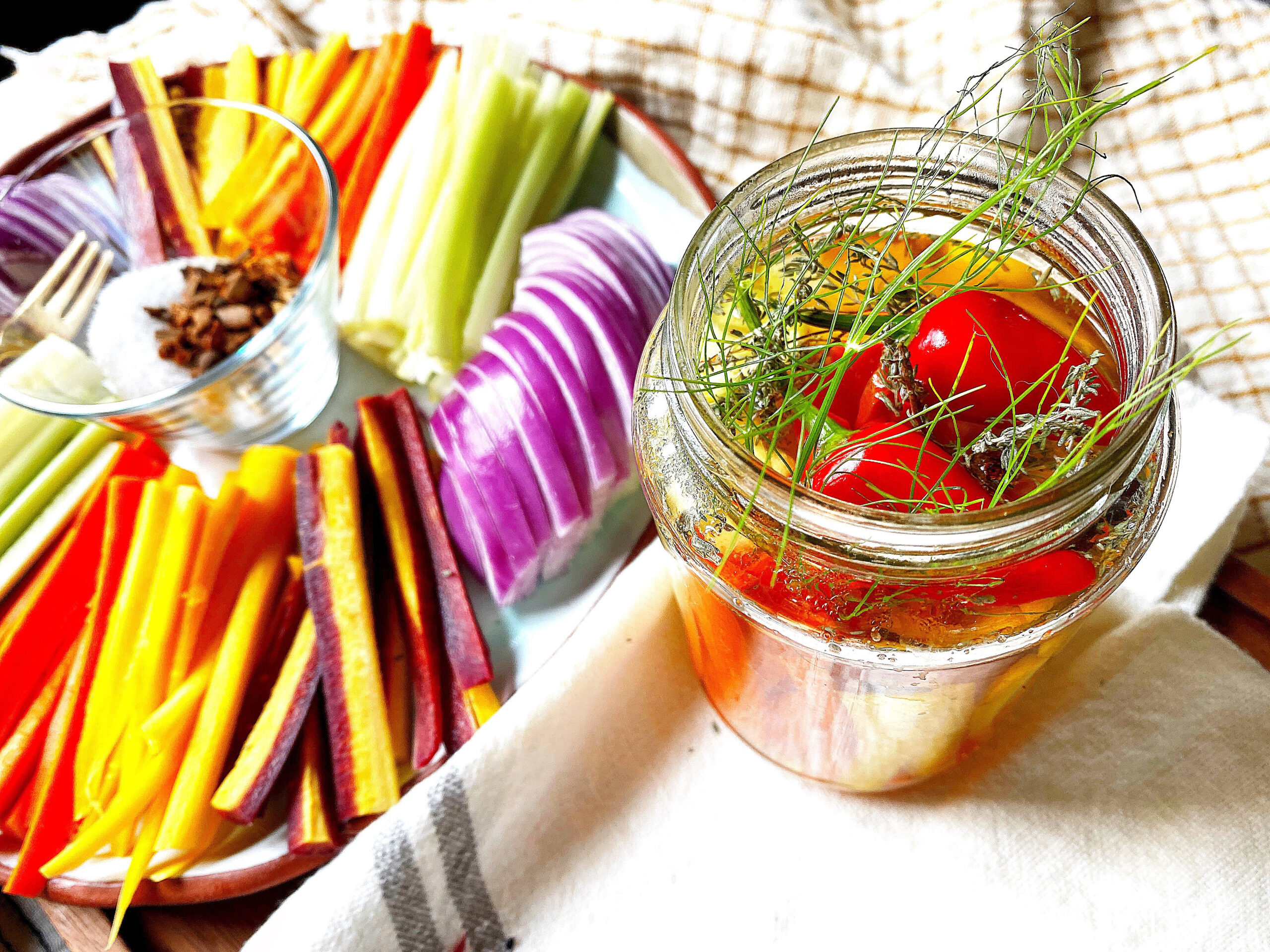 Quick Mulled Spice Pickled Veggies