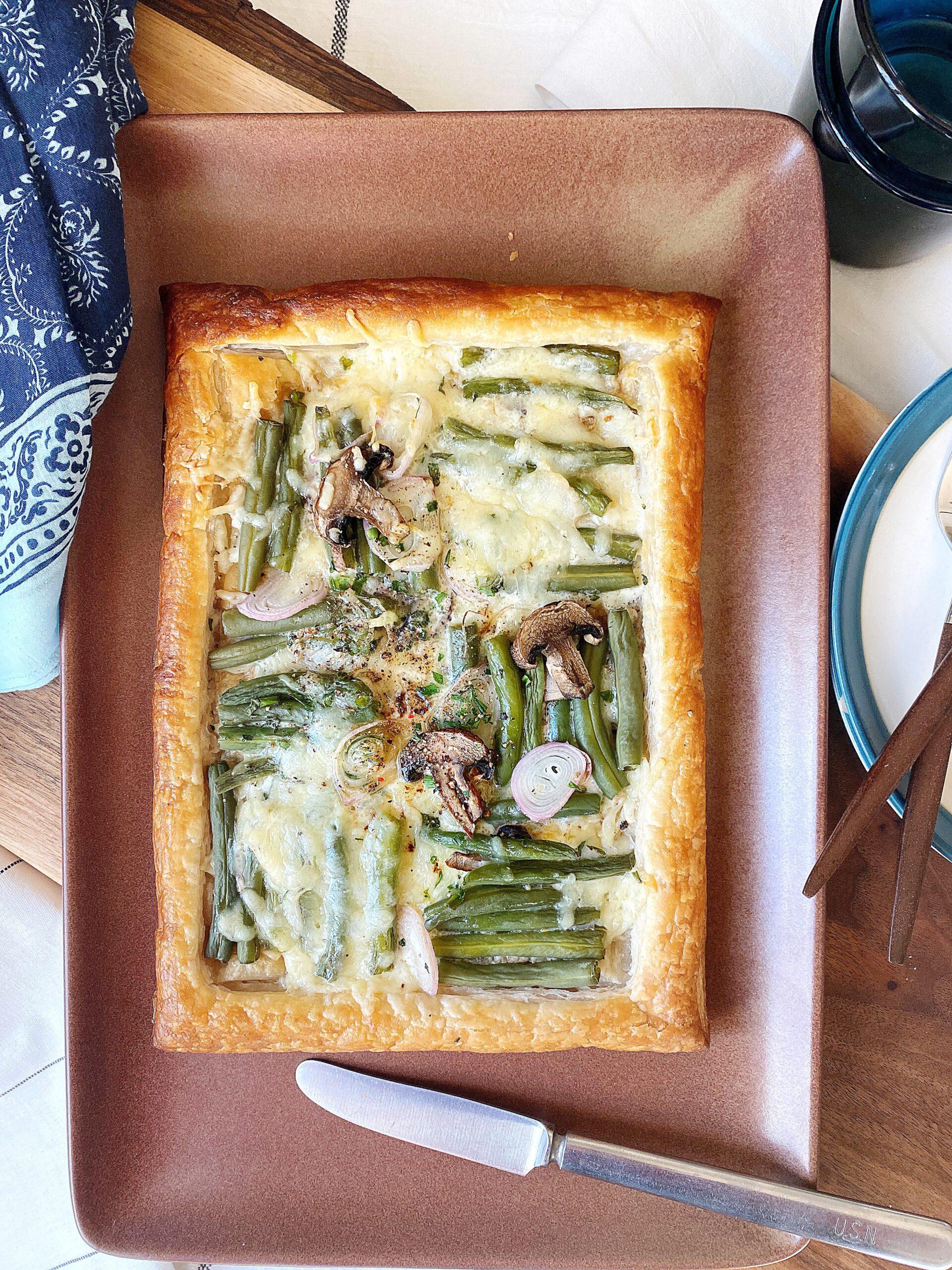 Green Bean Casserole Tart