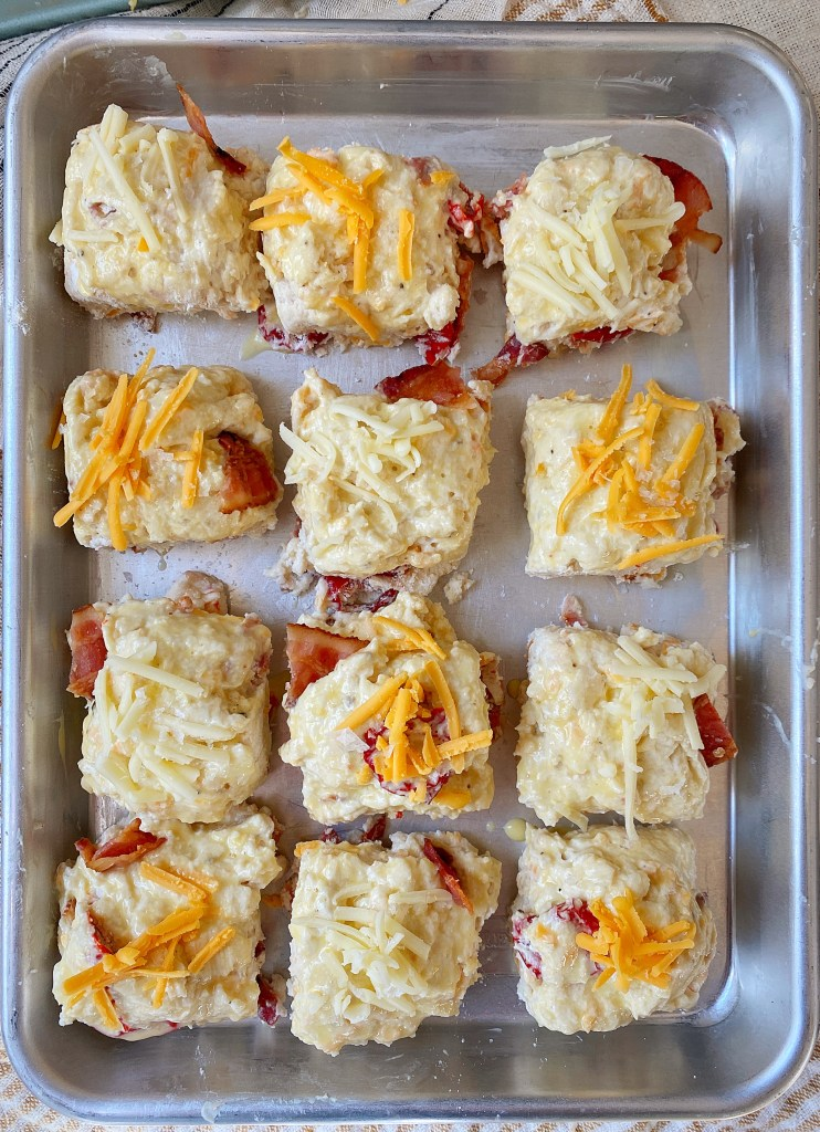 cut out cheddar bacon biscuits